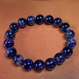 Natural Amethyst Beaded Bracelet